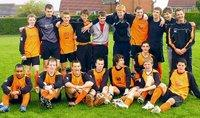 The Otley Town U-16 squad which won the Harrogate League title