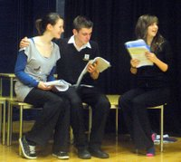 Members of the cast of St Mary's winning production