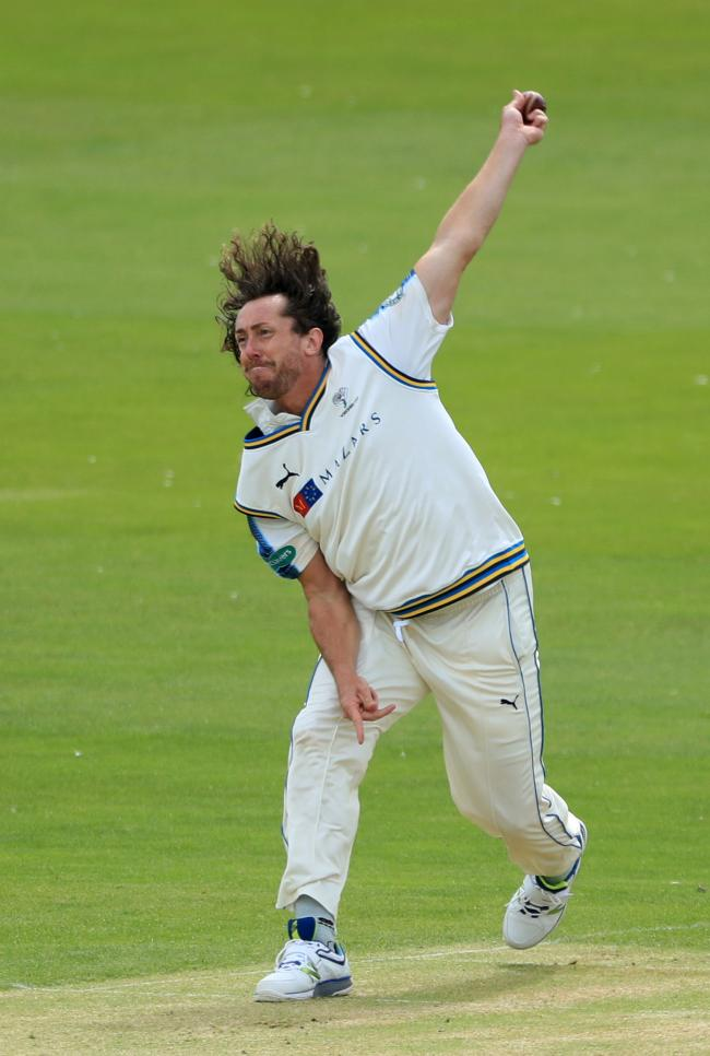 Yorkshire's Ryan Sidebottom bowls during the Specsavers County Championship, Division One match at the North Marine Road Ground, Scarborough. PRESS ASSOCIATION Photo. Picture date: Monday July 3, 2017. See PA story CRICKET Yorkshire. Photo credit shou