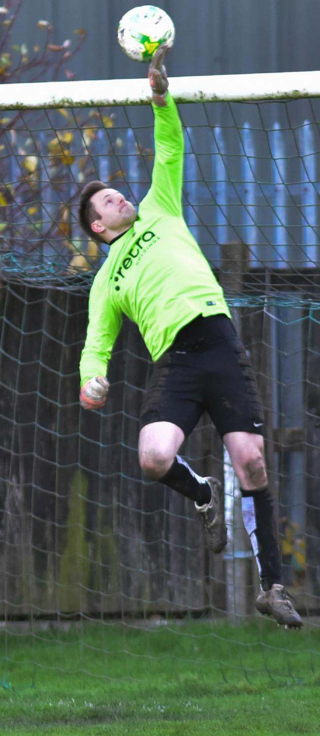 Otley Town keeper James Senior again proved his prowess in a penalty shoot-out