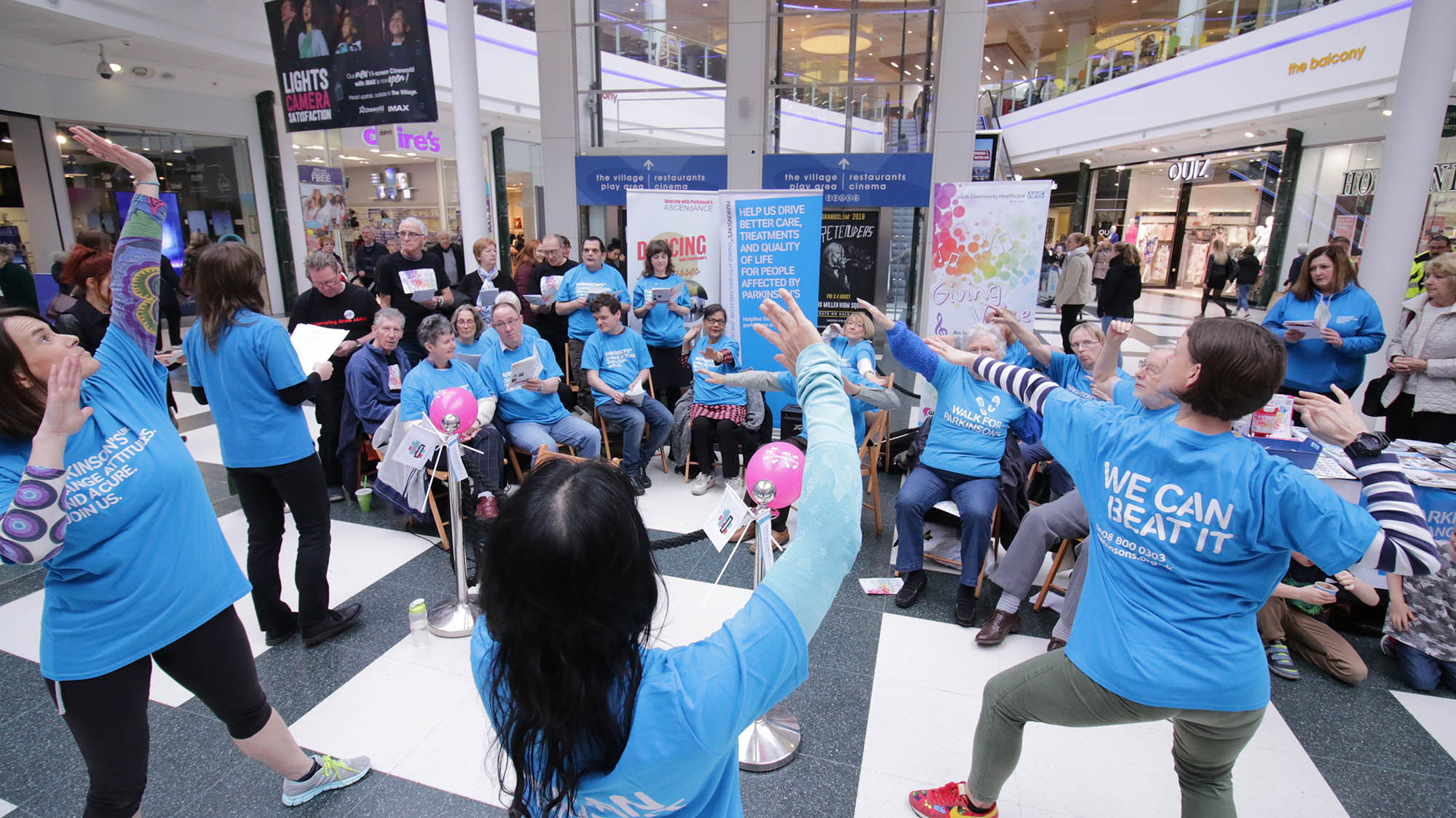 A Dancing with Parkinson's event that was held at the White Rose Centre, Leeds - classes are to start in Otley. Photograph by Lucy Barker