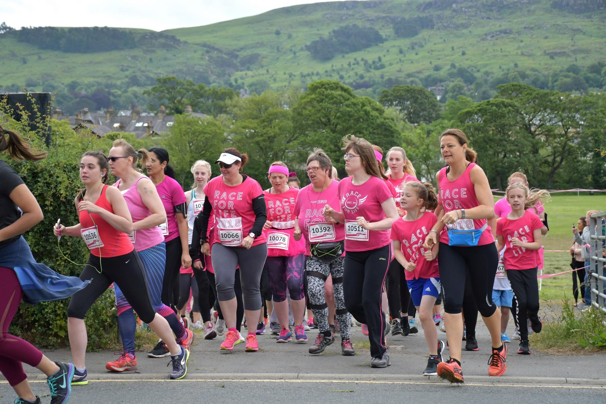 This year's Race for Life in Ilkley.