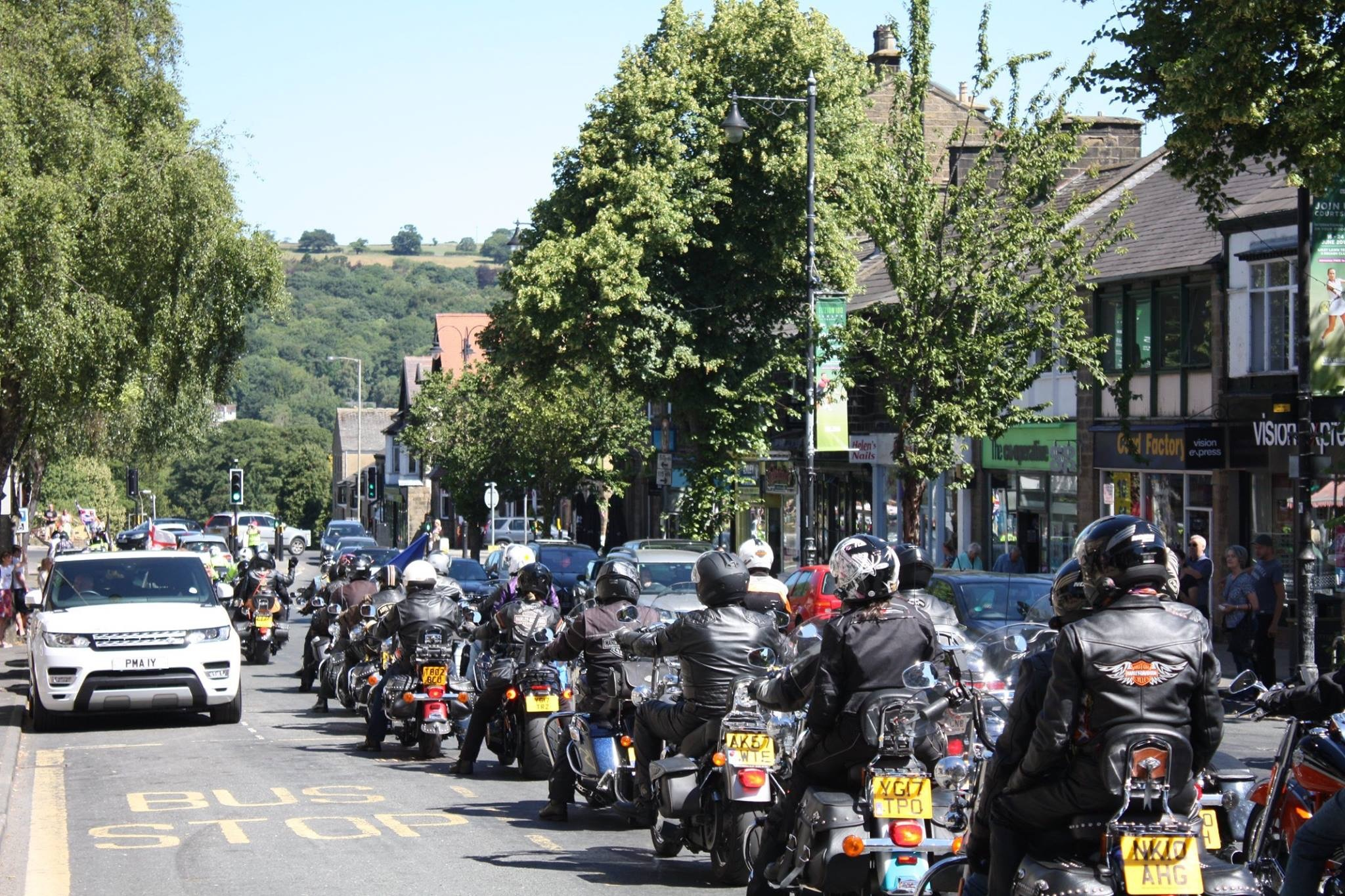 Members of the Aire Valley UK Harley Owners Club enjoy their second annual Roar On The Moor Rally in Ilkley