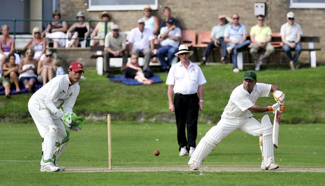 Ahsan Butt scored an un beaten century for Bowling Old Lane against Buttershaw St Paul's