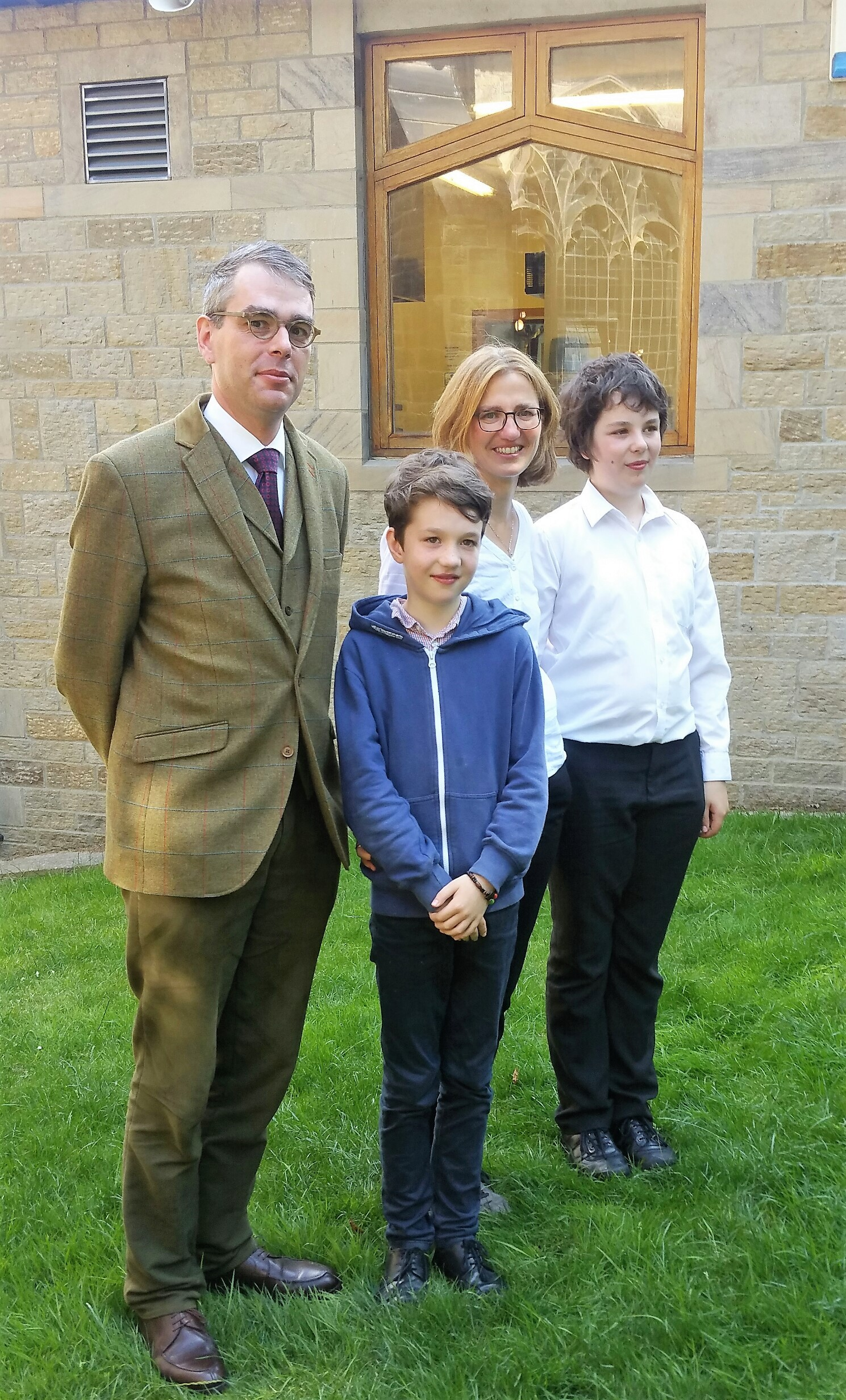 The Beyersdorff family, who have headed back to Germany after a six year stay in Ilkley, have bid a fond farewell to the town and St Margaret's Church