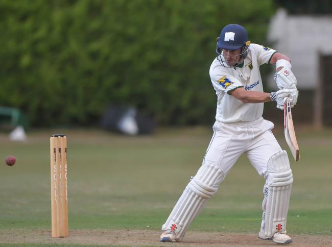New Farnley's Andrew Hodd has scored runs in both matches against Pudsey St Lawrence Picture: Ray Spencer