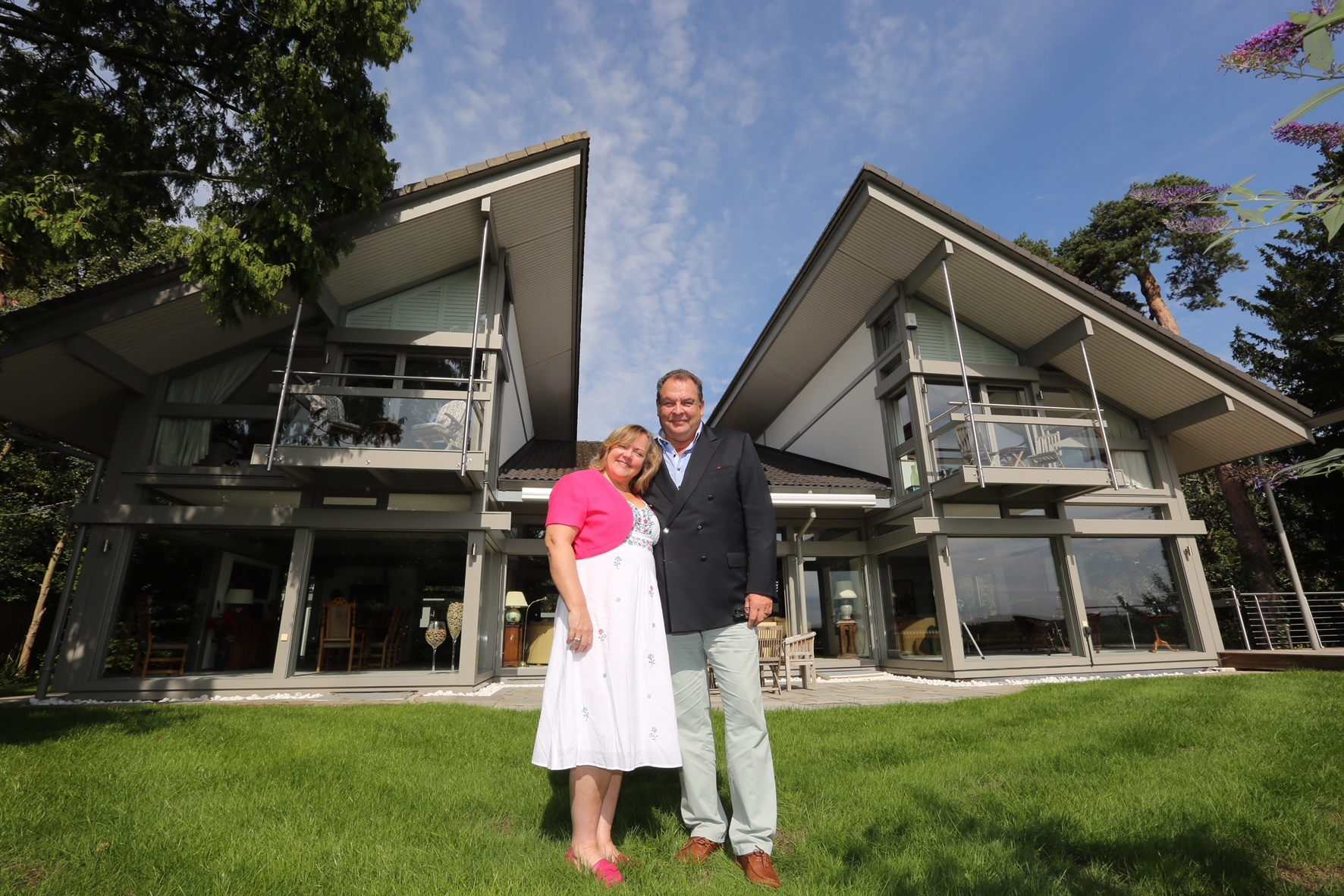 WIN A HOUSE: Mark and Sharon Beresford at their home in Avon Castle, Ringwood, which they are selling through a competition