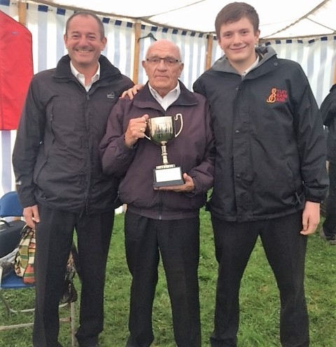 Trophy winner - Otley Brass Band soloist Malcolm Sexton (centre) with his son, David and grandson, Miles