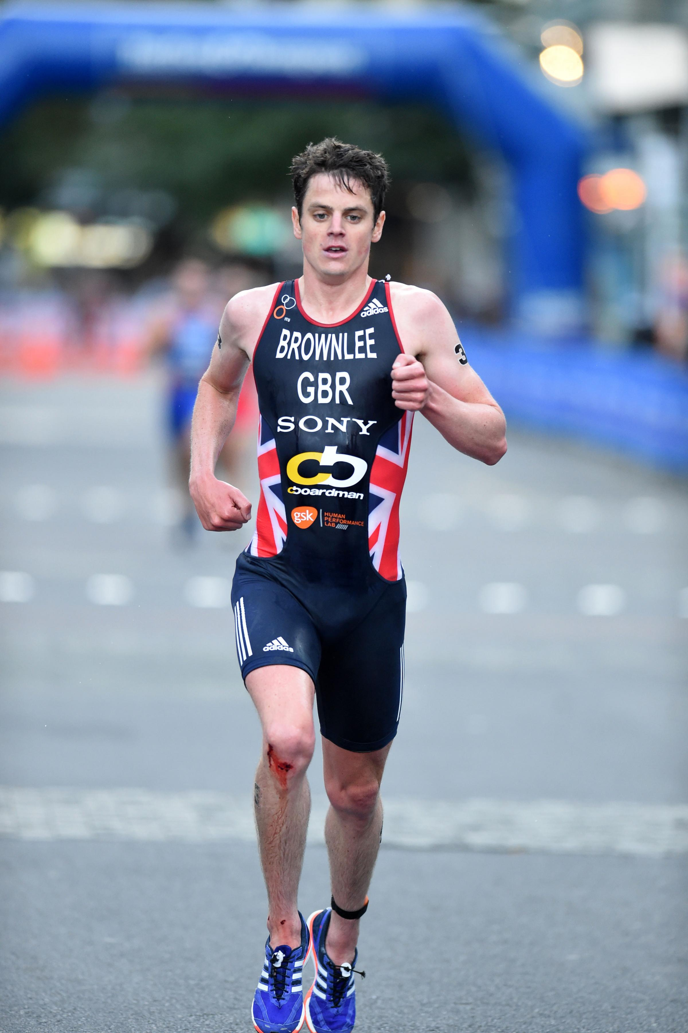 Jonny Brownlee on his way to victory in Auckland