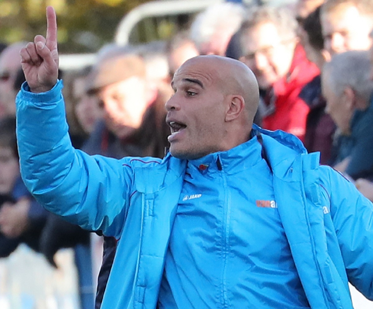 Guiseley joint-manager Marcus Bignot said he was disappointed his side crashed out of the FA Trophy. Picture: Alex Daniel Photography