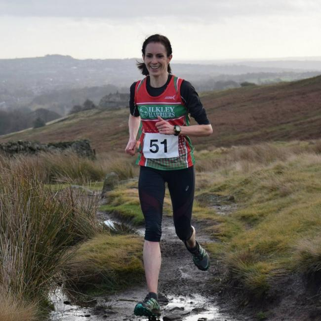 Helen Thurston clocked the fastest 5K of the year by a female Ilkley Harrier. Picture: Dave Woodhead