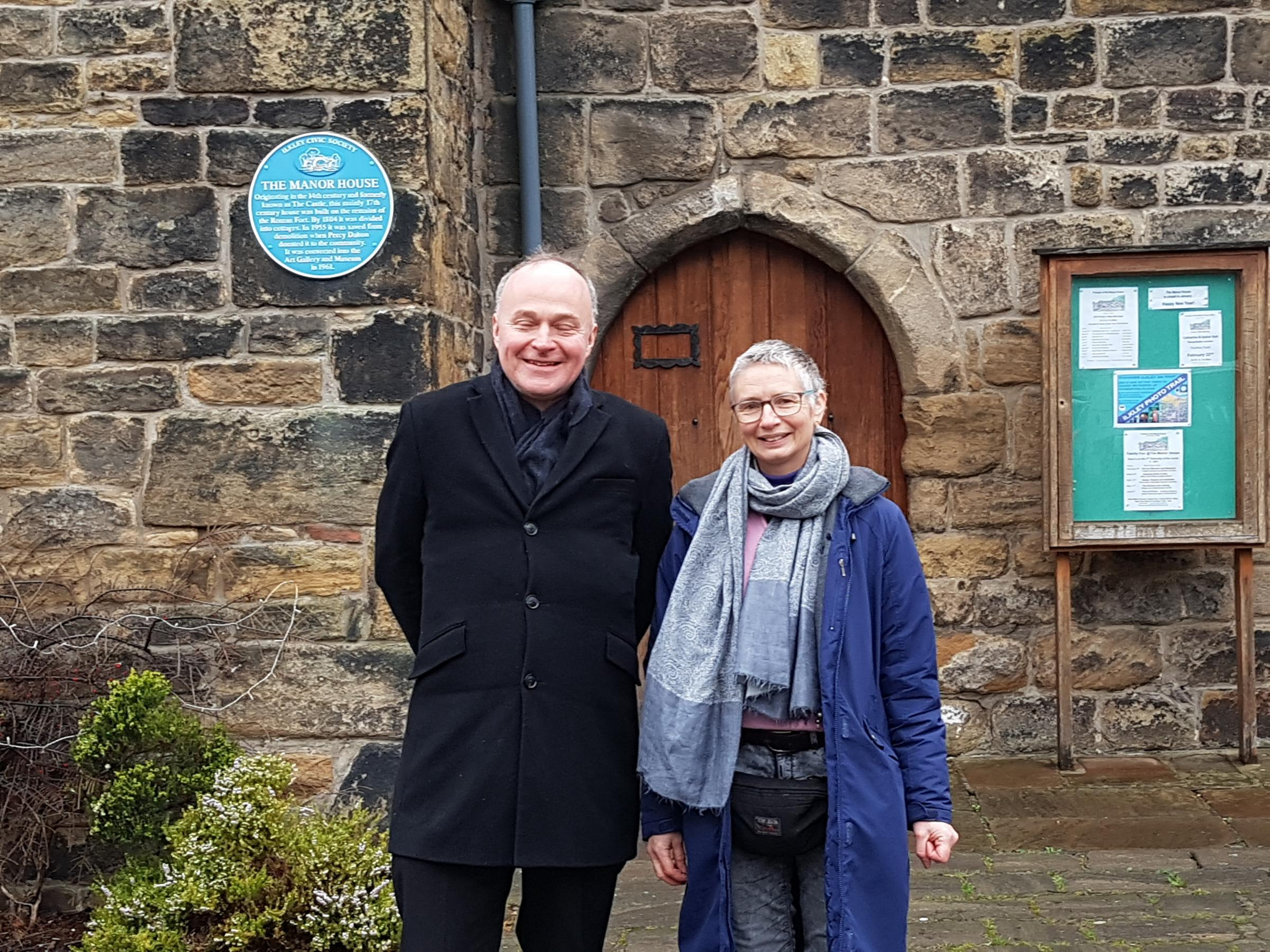 Ilkley's Labour MP John Grogan with Kath Steward who will contest the Ilkley seat for Labour in the May Bradford Council elections