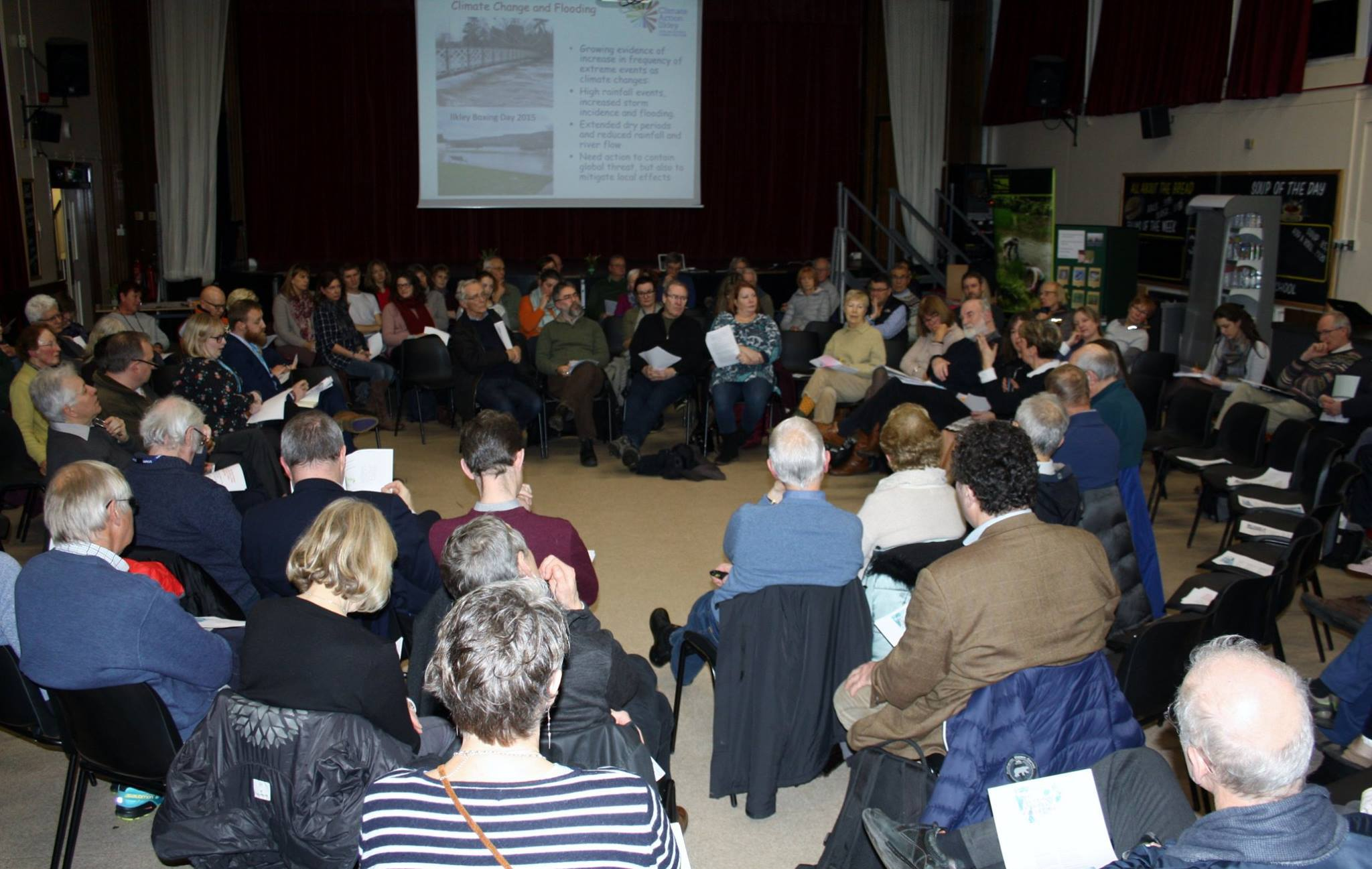 The Ilkley Town meeting: The Solution is less Pollution, Protecting the Wharfe and Ilkley environment, held at Ilkley Grammar School