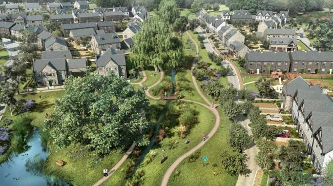 An artist's impression of the development in Sun Lane, Burley-in-Wharfedale