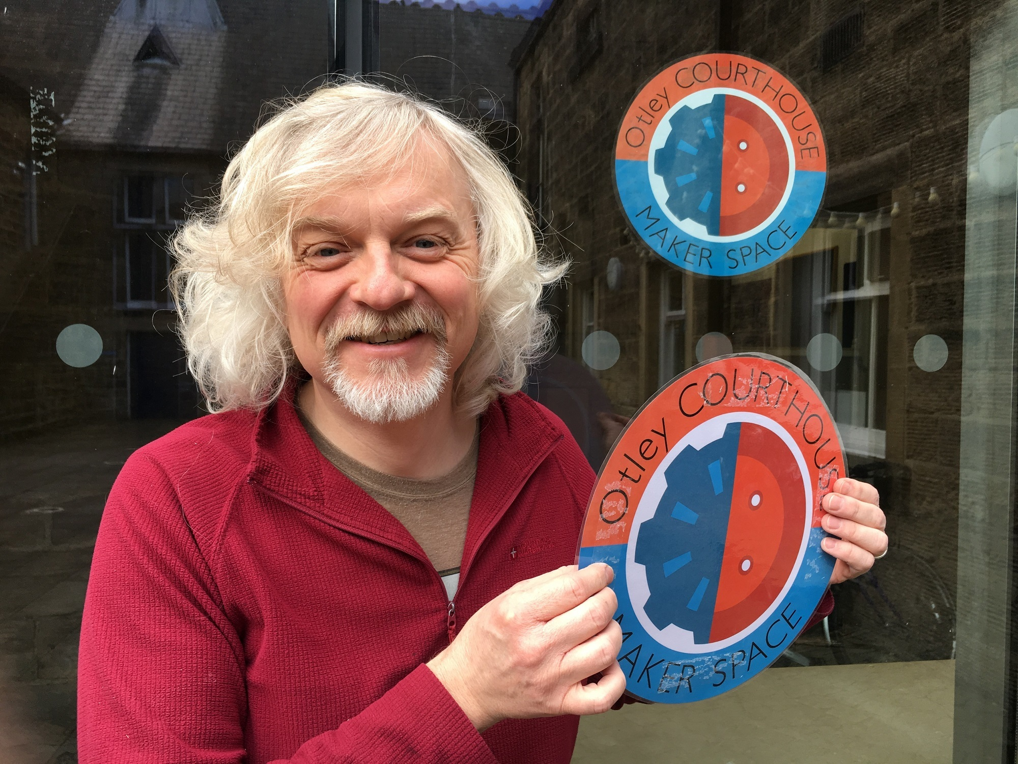 Dr Marty Jopson at the Otley Maker Space