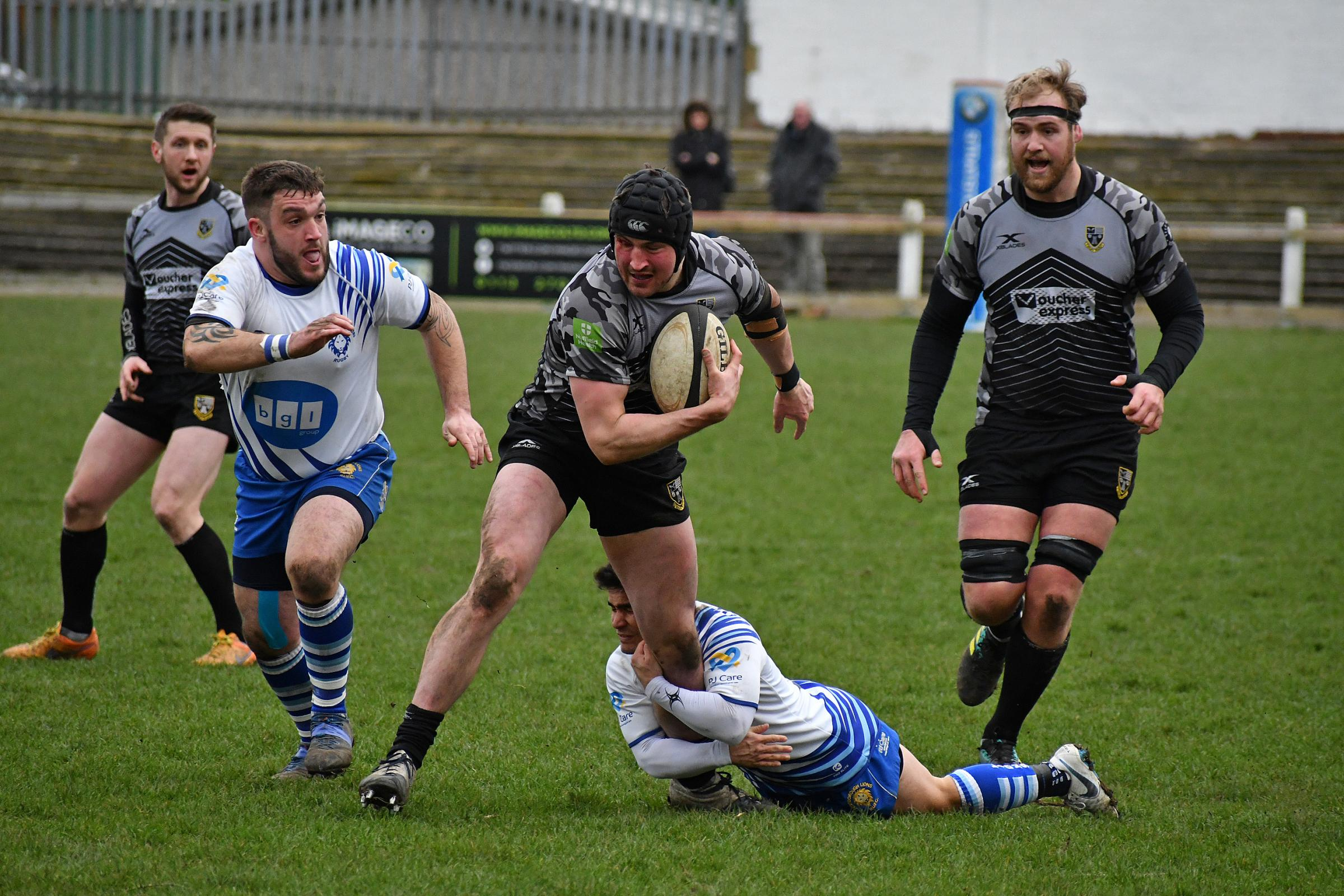 Action from Otley's game against Peterborough Lions at Cross Green on Saturday. William Rigg carries the ball. Picture: Richard Leach