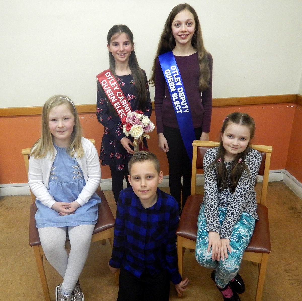Otley Carnival Queen Elect Niamh Emmett Casey and her team