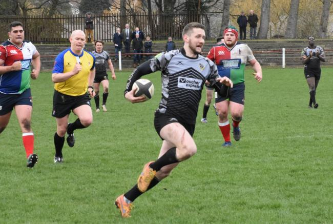 Joe Rowntree scored a last-minute penalty to give Otley their first win of the season. Picture: Mike Pratt
