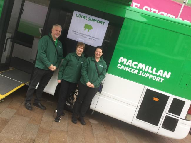 The Macmillan Mobile Information and Support Team which is coming to Otley and Ilkley next week