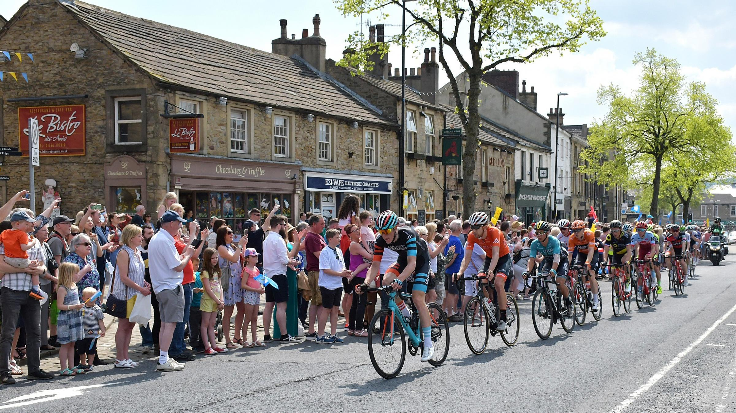 The Tour de Yorkshire passes through Skipton in 2018