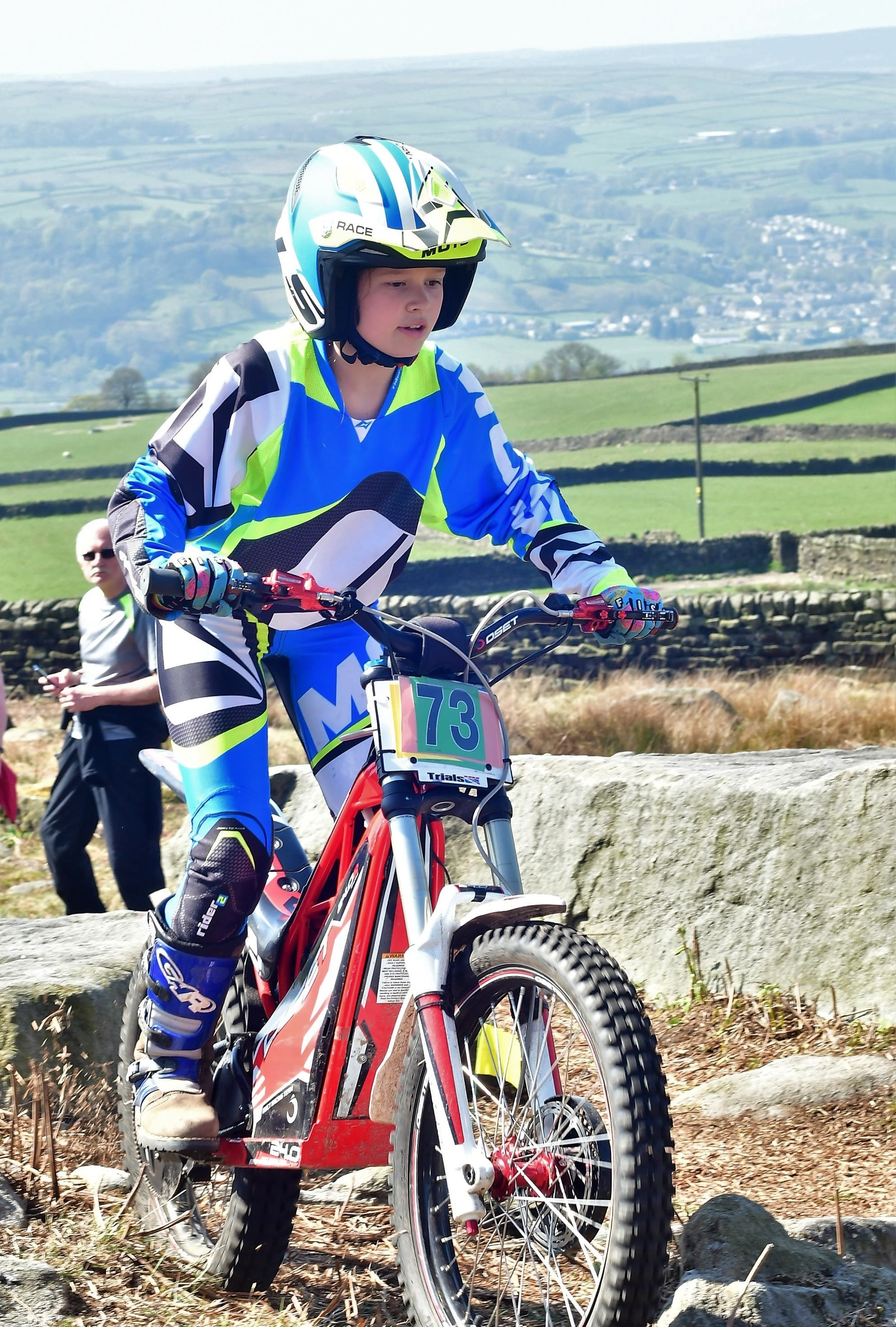 Poppy Fletcher performed well at the Yeadon-Guseley Trial held at Addingham Moorside