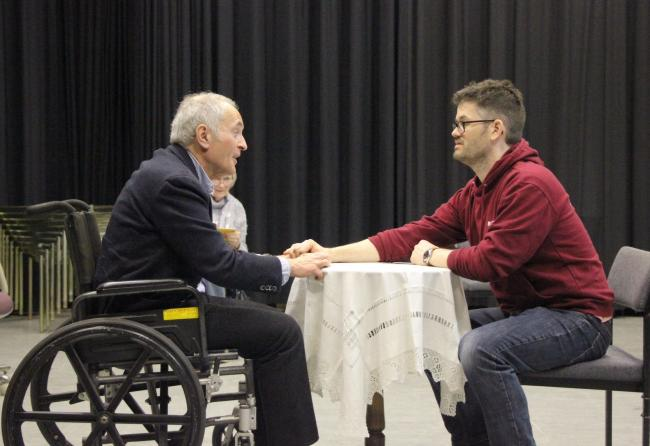 Left to right: Stephen Brown and Rob Edwards in Tuesdays with Morrie
