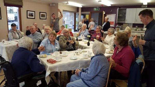Cuppa, cake and company at Burley Parish Centre