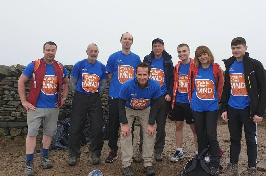 The walkers raising money for the Motor Neurone Disease Association
