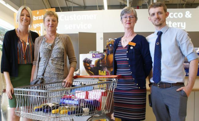 Sue Trainor from OAOP  (second left) at Sainsbury's Otley