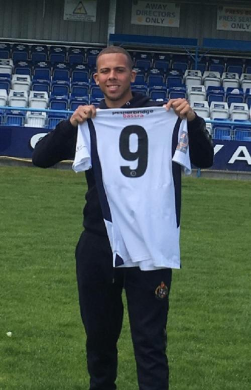 The signing of striker Aaron Martin, pictured, is a gamble for Guiseley, according to joint-manager Marcus Bignot