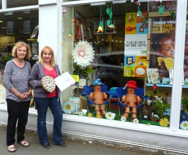 Otley's Oxfam shop won the 2018 Carnival Window Dressing Competition