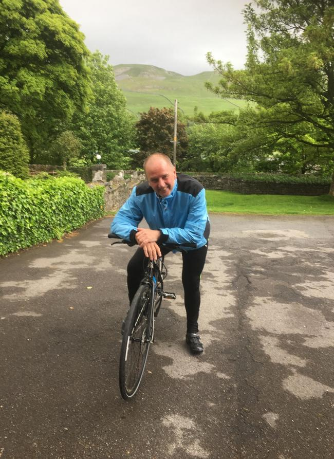 Tony Gill who is taking on a cycle challenge for several charities