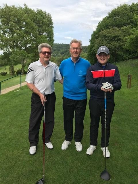 Alex Calder Snr and Alex Calder Jnr are pictued with Ian Lomas, captain of the gent's section at Otley Golf Club