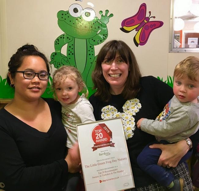 Celebrating a Top 20 ranking - The Little Green Frog Day Nursery